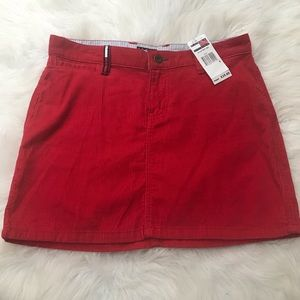Tommy jeans red corduroy skirt